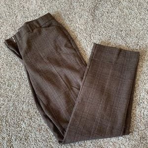 Maurices Brown Plaid Trousers Size 7/8 SHORT